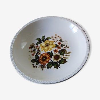 Deep dish floral Digoin & Sarreguemines