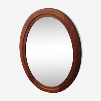Miroir en bois massif vintage 52 x 68 cm