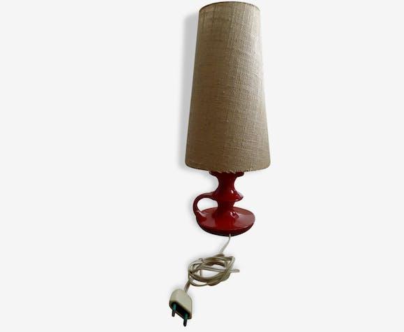 petite lampe de chevet table scandinave rouge cru c ramique porcelaine fa ence rouge. Black Bedroom Furniture Sets. Home Design Ideas