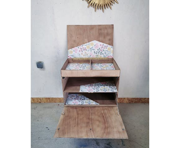 Atypical wooden storage furniture