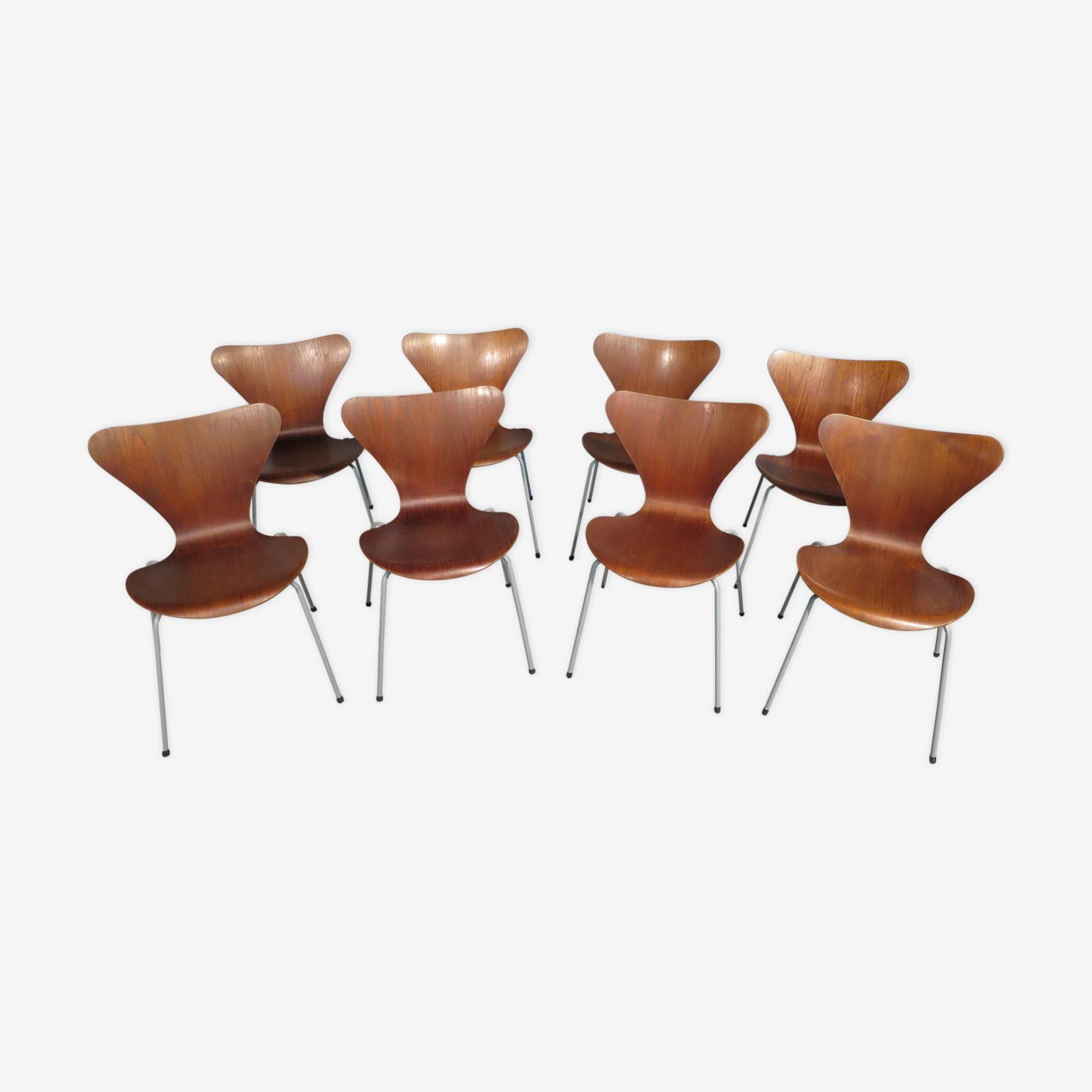 Set de 8 chaises Arne Jacobsen