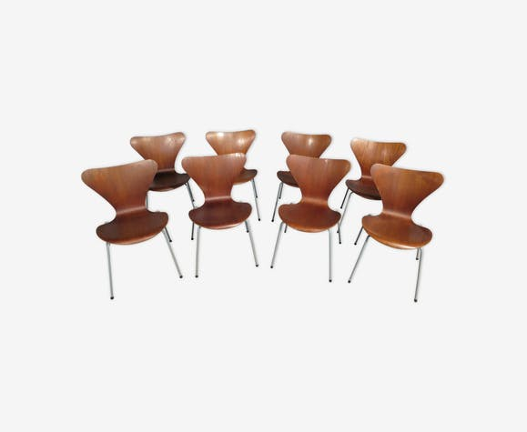 Set de 8 chaises Arne Jacobsen