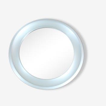 Round mirror anodized brass