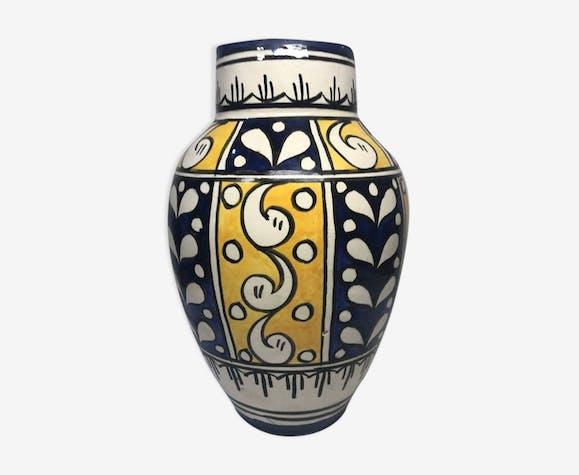 Moroccan art vase of the master Serghini Safi