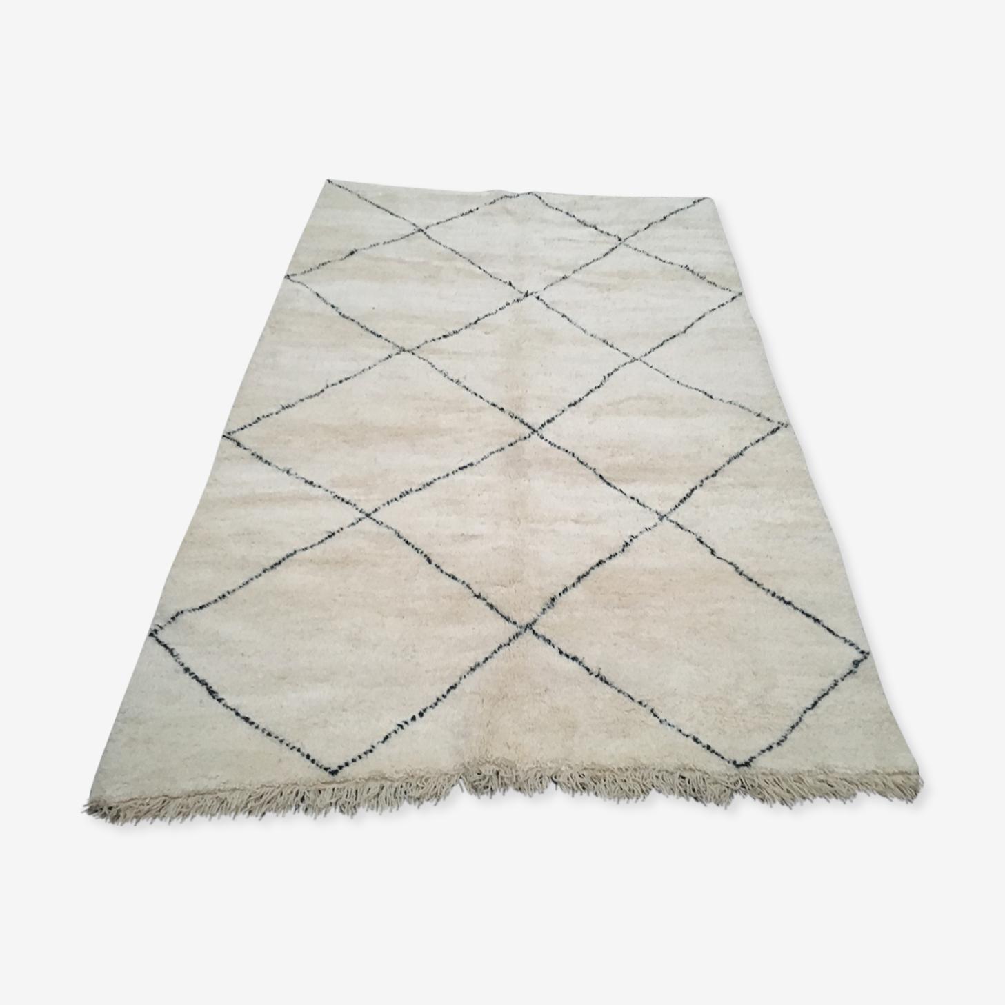 Tapis beni ouarain authentique noué Maroc 315 x 205 cm
