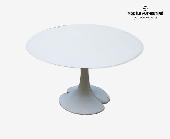 Table vintage Christian Adam modèle Trèfle éditeur Airborne vers 1970