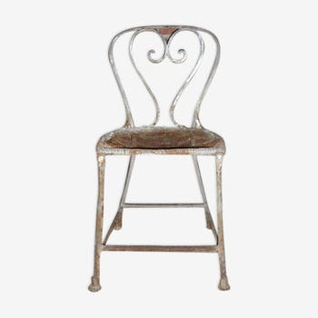 Chaise de jardin fin XIXe siècle pattes de lion