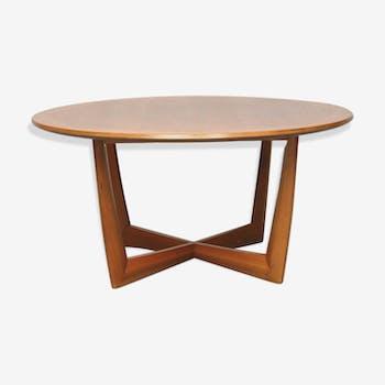 Scandinavian coffee table round, 1960