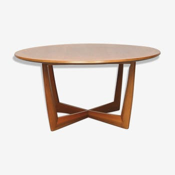 Table basse scandinave ronde, 1960