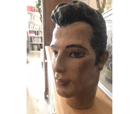 Tête homme vintage plâtre
