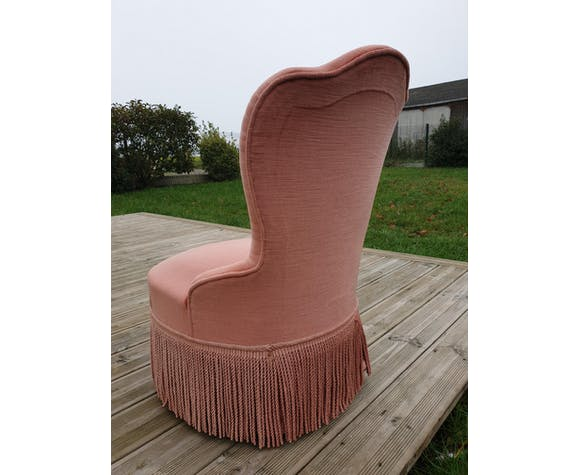 Old pink toad chair 1960s