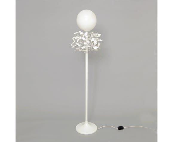 Sergio Terzani enamel laurel leaf floor tree lamp