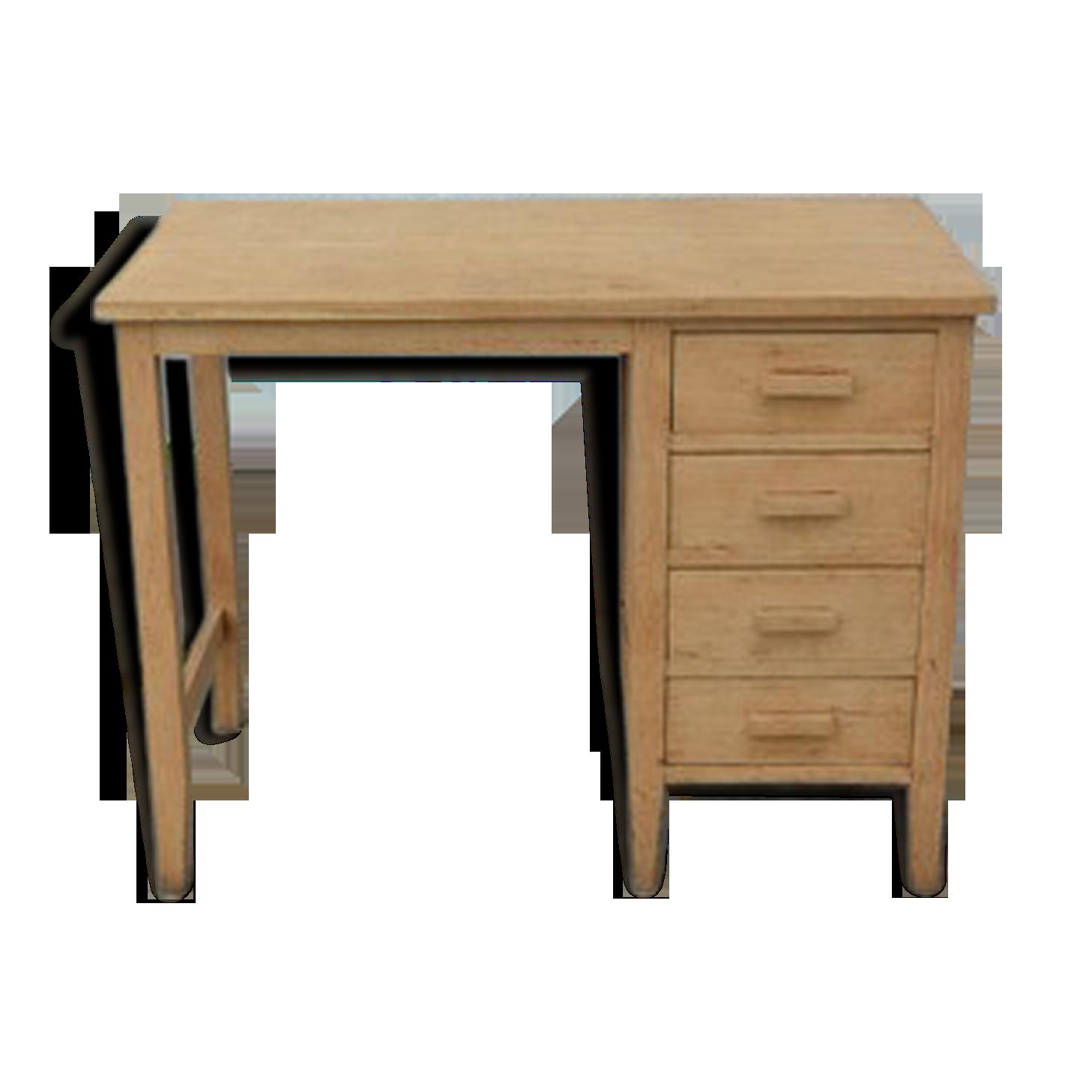 Bureau en bois naturel bois matériau bois couleur
