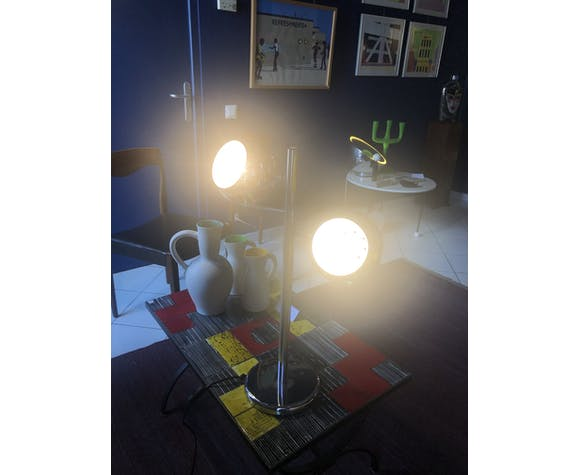 1970s chrome lamp