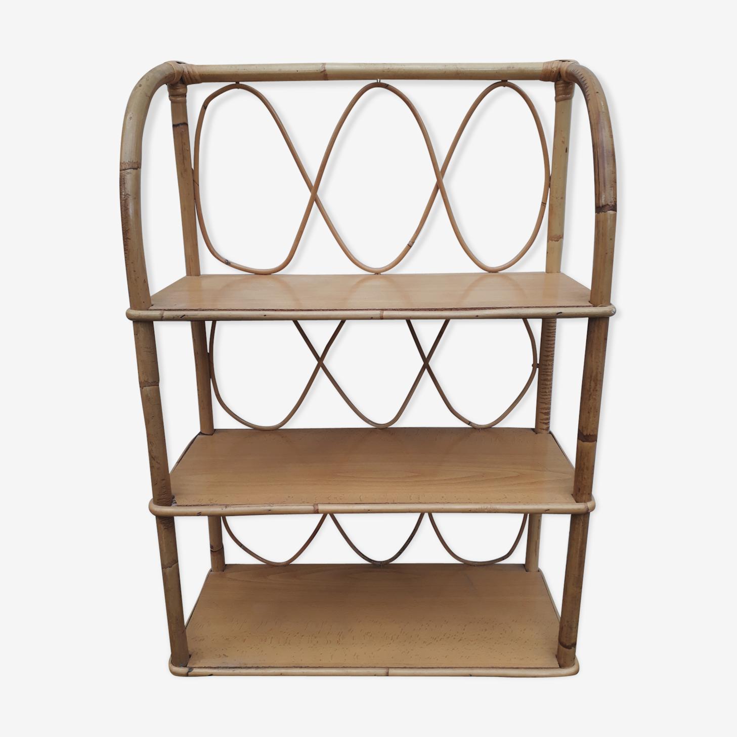 Rattan shelf of the 70s