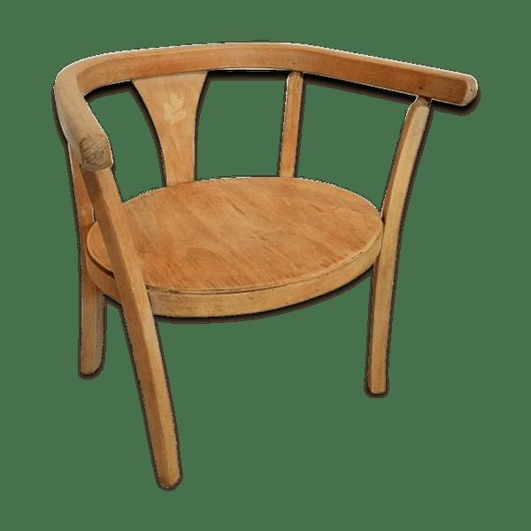 chaise bois enfant jusqu 3 ans vintage selency