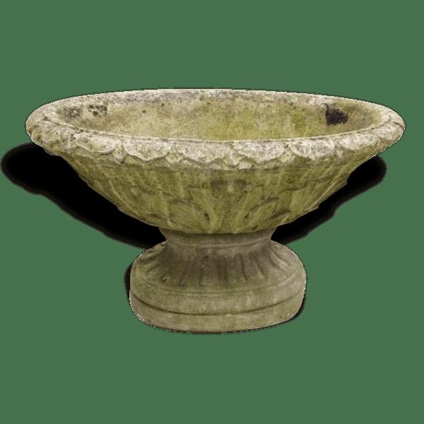 Jardinière vasque ciment ovale ancienne - pierre et plâtre - bon état -  classique - 78068