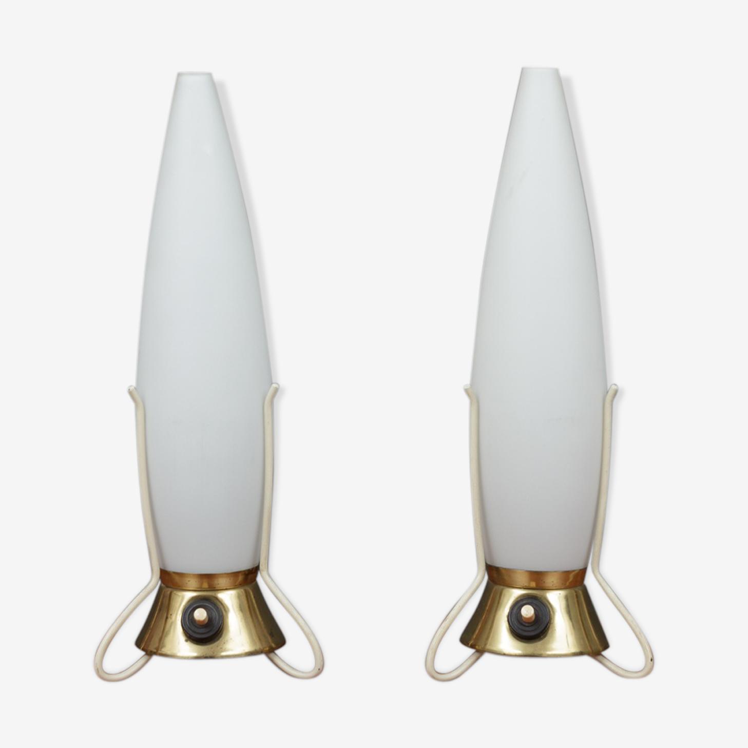Paire de lampe de table fusée