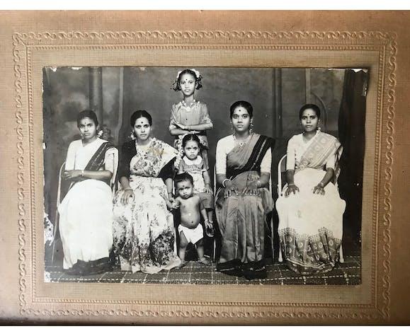 Photographie famille hindi vintage