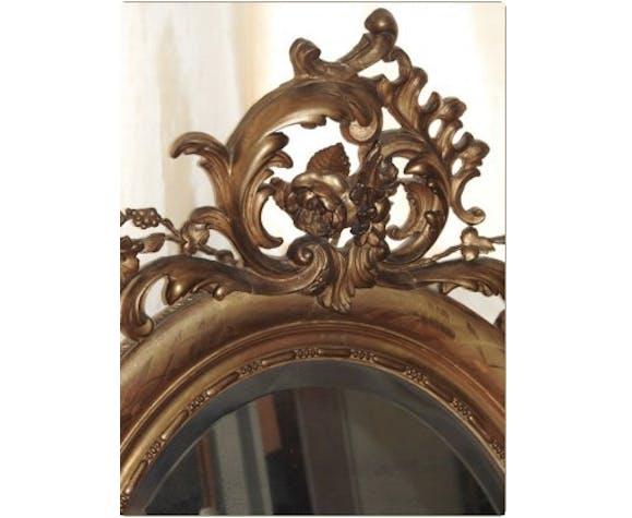 Miroir encadrement doré époque Napoléon III