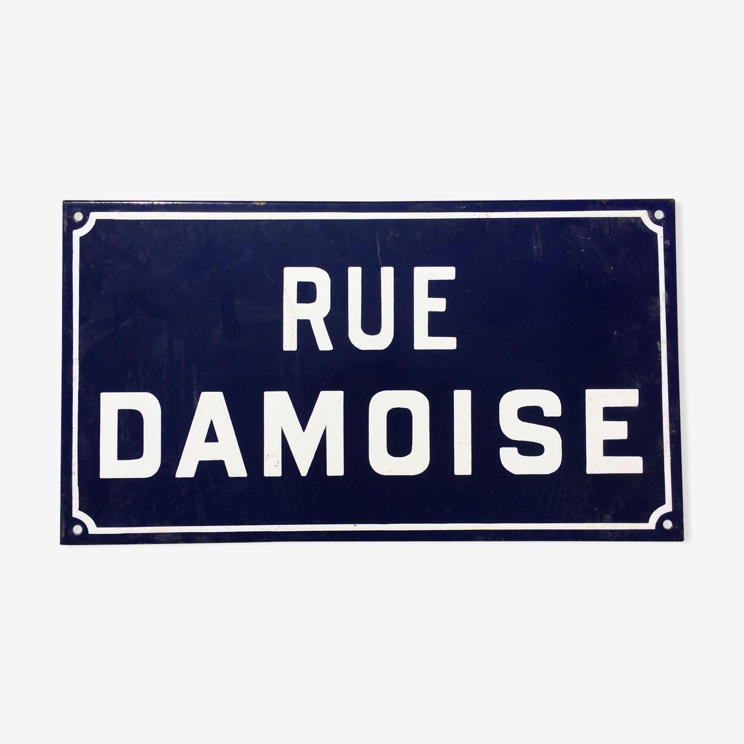 Plaque de rue damoise