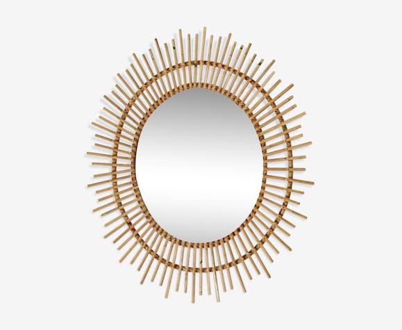 Mirror rattan sun 60x60cm