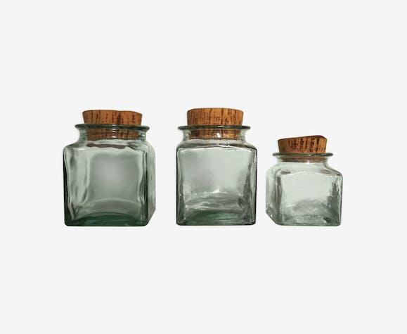 Vintage jars trio