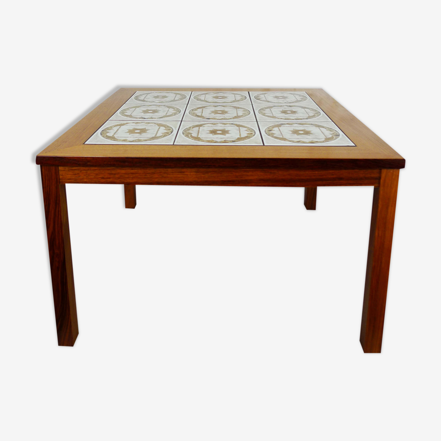 Table in teak with ceramic, Denmark, 1970