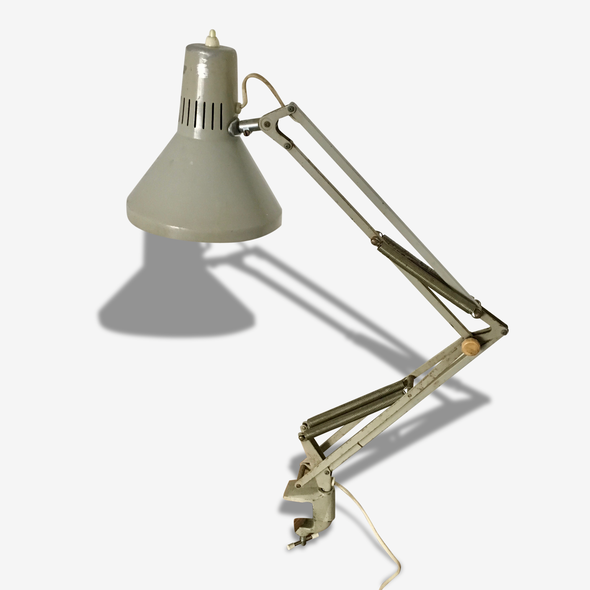 Lampe D Architecte Ledu Grise Vintage 1960 Metal Gris Vintage