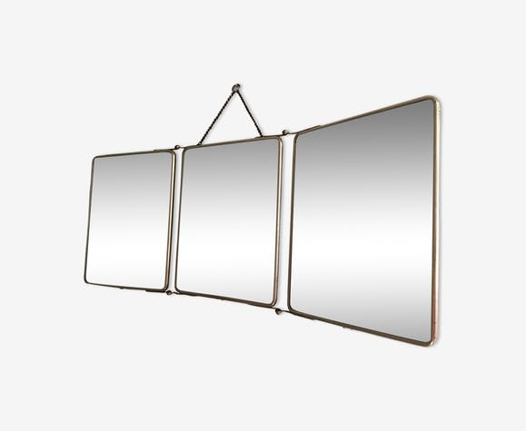 Large triptych mirror