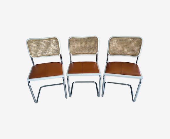Suite 3 chaises cesca B32 Marcel Breuer 1992