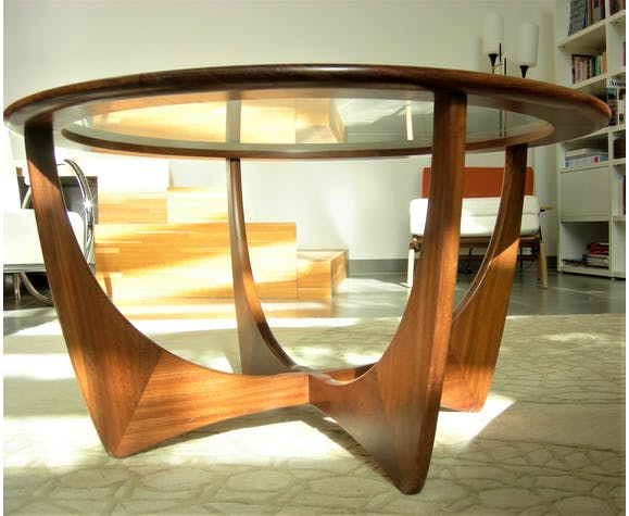 G-plan round astro coffee table in solid teak