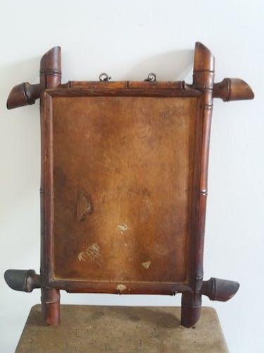 Wooden mirror 22,5x16cm