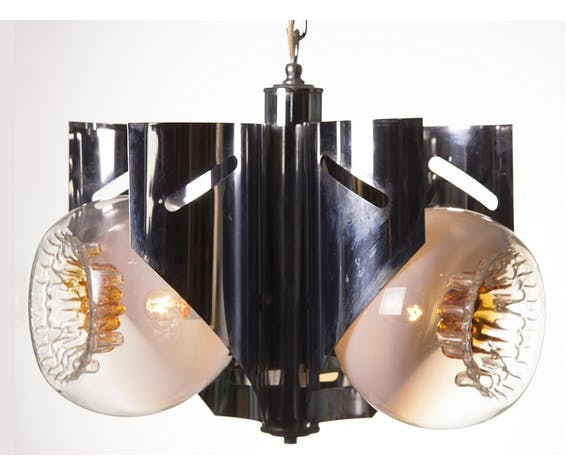 Italian Murano 60s glass suspension