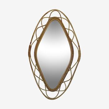 Miroir rotin 37x63cm