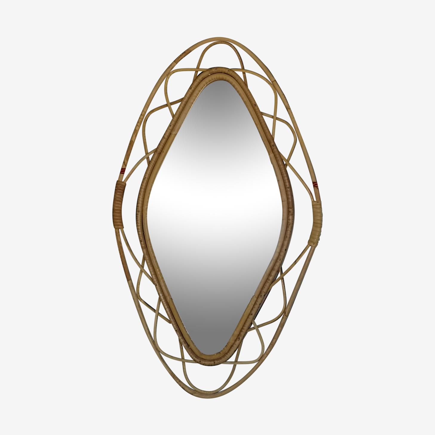 Mirror rattan 37x63cm