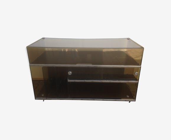meuble hifi platine vinyle plexiglass ann e 70 vintage. Black Bedroom Furniture Sets. Home Design Ideas