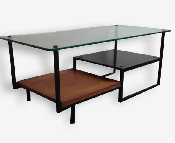Table Low Vintage 50s 60s Gl