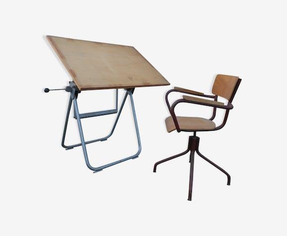 table de dessin architecte heliolithe bois mat riau. Black Bedroom Furniture Sets. Home Design Ideas