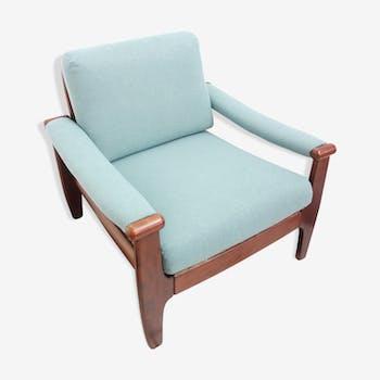 Fauteuil bleu/vert des années 1960
