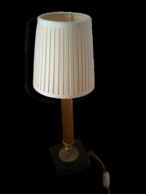 Petite lampe de style, socle marbre