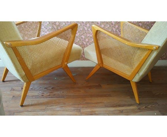 fauteuil cocktail scandinave danois années 50 60  selency