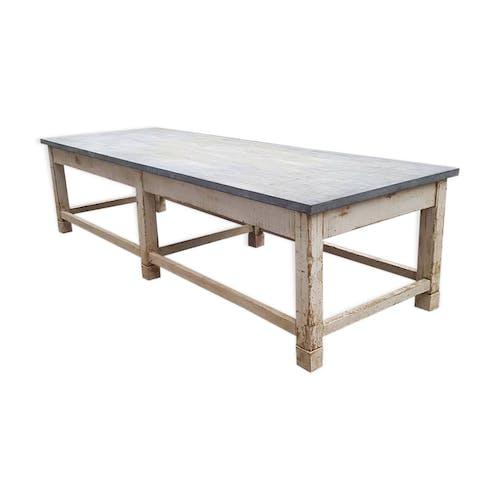 Table En Bois Avec Plateau En Zinc Selency