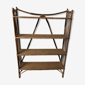 Shelf rattan bamboo and caning