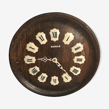 Horloge kiple bois chiffres romains en bakelite blanc vintage