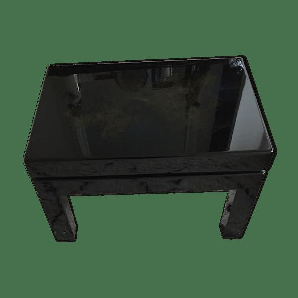 Table basse japonaise - bois (Matériau) - noir - dans son jus - éthnique -  y3FiRlG
