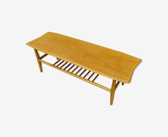 Table basse scandinave en bois blond