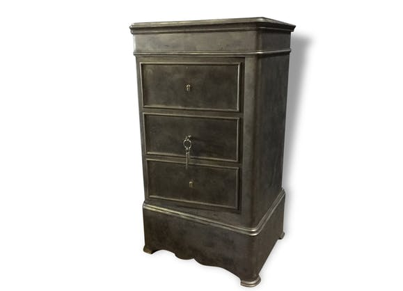 ancien coffre fort raoult mobilier industriel m tal noir industriel 161244. Black Bedroom Furniture Sets. Home Design Ideas
