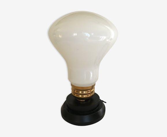 Lampe de table forme ampoule des années 1970   Selency