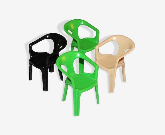 Lot de 4 fauteuils miniatures vintage